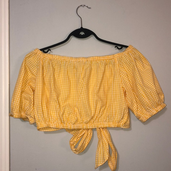 Zara Yellow Gingham Top
